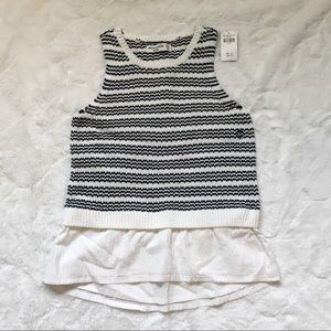 Abercrombie Kids Striped Twofer Sweater Tank 13/14